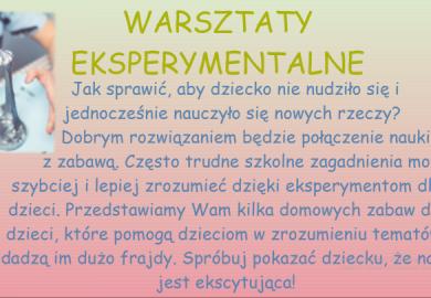 Obrazek galerii ŚWIETLICA - GALERIA POMYSŁÓW NA CIEKAWE ZABAWY... /XII 2020 R./