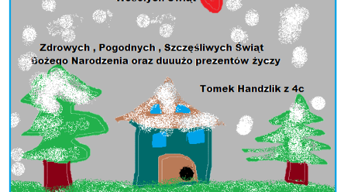 """Obrazek galerii KONKURS INFORMATYCZNY  """"NAJŁADNIEJSZA KARTKA ŚWIĄTECZNA BOŻONARODZENIOWA"""" (XII '20 R.)"""